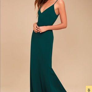 Lulus Forest Green Maxi Dress